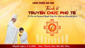 TÒA GIÁM MỤC BÀ RỊA: THƯ BÁO: Thánh lễ suy tôn Thánh Tâm Chúa Giêsu và phong chức phó tế