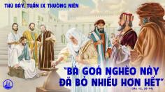 05.6.2021 – Thứ Bảy Tuần IX Thuờng Niên
