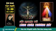 THÔNG BÁO  V/v tổ chức giờ cầu nguyện với Lòng Chúa Thương Xót dưới hình thức trực tuyến