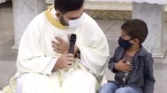 Cậu bé 5 tuổi xin cầu nguyện cho bố đỡ đầu đang phải đặt nội khí quản vì Covid-19