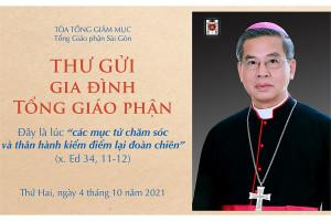 Thư mục vụ gửi gia đình Tổng Giáo phận Sài Gòn ngày 4-10-2021