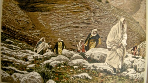 Jesus and Disciples on mountain