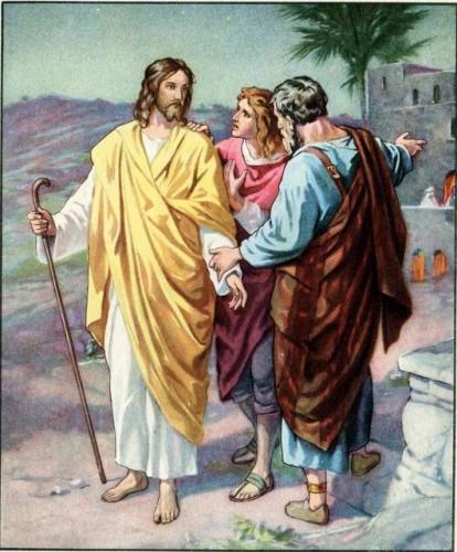 Jesus on the Road to Emmaus Luke 24:28-29