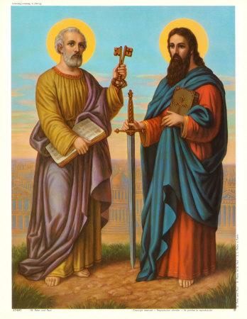 Ngày 29/6: Lễ thánh Phêrô và Phaolô tông đồ.