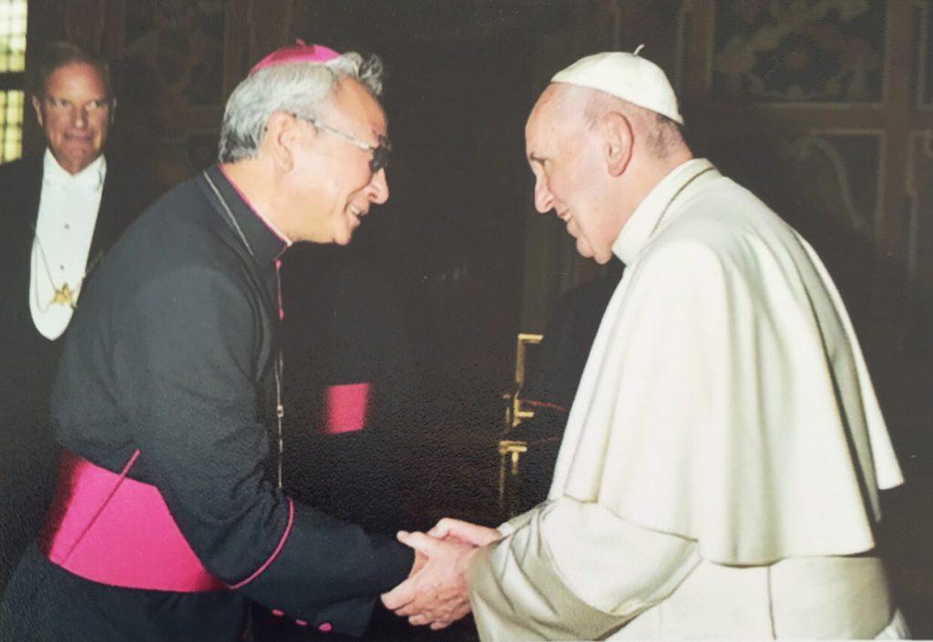 Đức Thánh Cha tiếp kiến Đức Cha Emmanuel Nguyễn Hồng Sơn - Giám Mục Phó Giáo Phận Bà Rịa