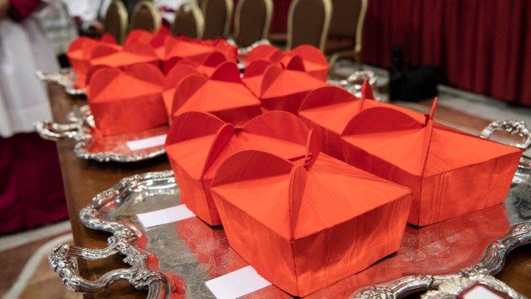 Mũ của Hồng y (Vatican Media)